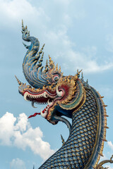 Foto op Canvas Historisch mon. Ancient ornamental dragon of temple