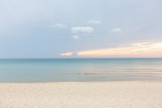 Calm sunrise at Chaweng beach in Koh Samui
