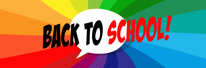 Wall Mural - Back to school