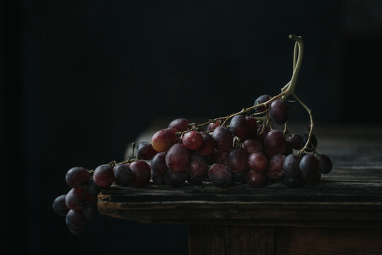 Grapes on a table