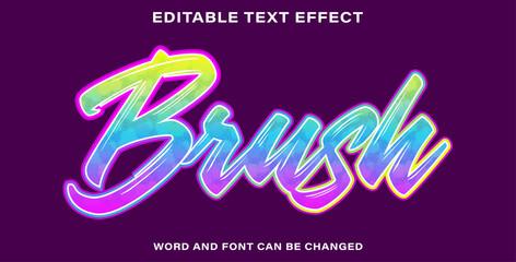 Wall Mural - Brush text effect