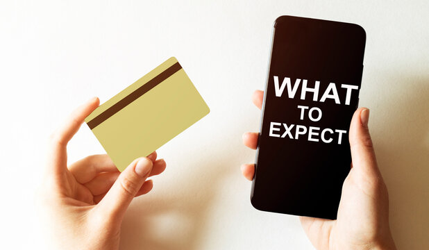 gold card and phone with text disaster recover plan What To Expect in the female hands