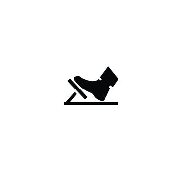 gas pedal, brake pedal, isolated icon on white background, auto service, repair, car detail