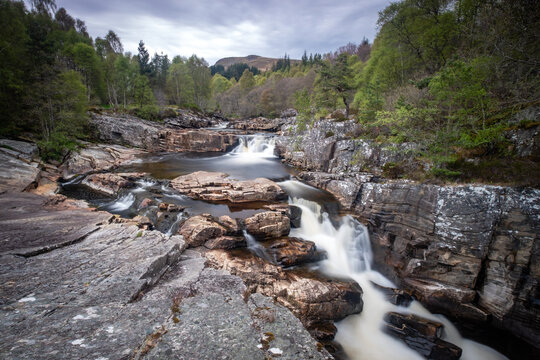 Black Water Falls, Highland Region, Scotland.
