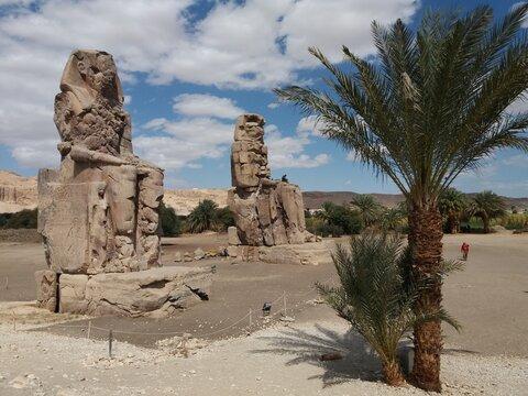 Colossus of Memnón, Luxor, Egypt.