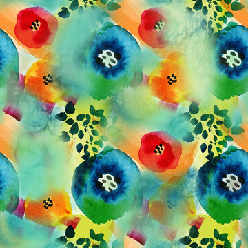 Colorful circle abstract texture. Watercolor pattern with abstract background