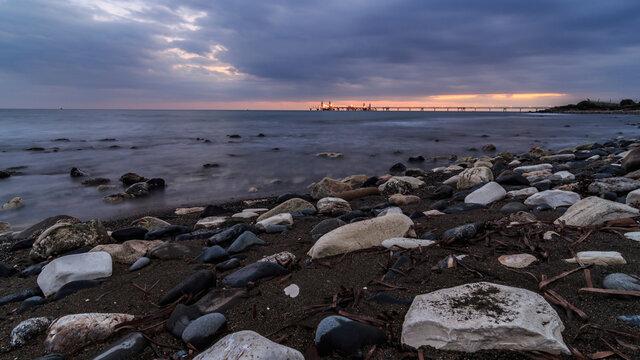 Island's Coast During Sunset