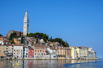View of the old town of Rovinj in Croatia