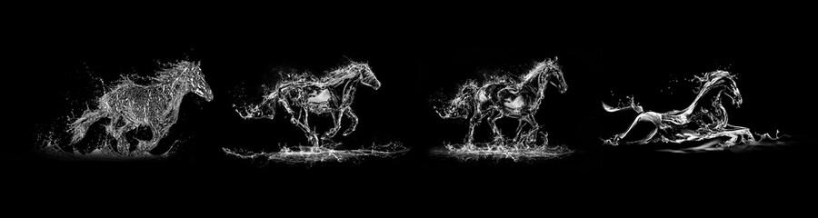 Fototapeta 灵动水动态的马