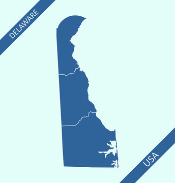 County map of Delaware USA