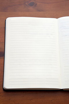 blank_page_lines_open_paper notebook_upright