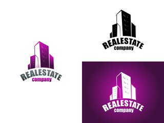 real estate building and construction logo vector illustration