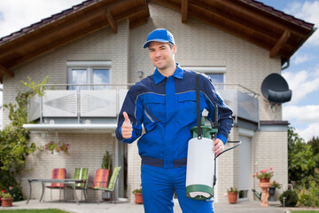Pest Control Exterminator Man Worker