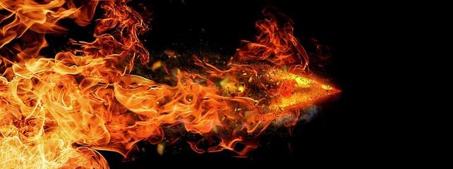 炎の矢印  Wall mural