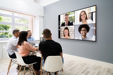 Video Conference Business Meeting Call