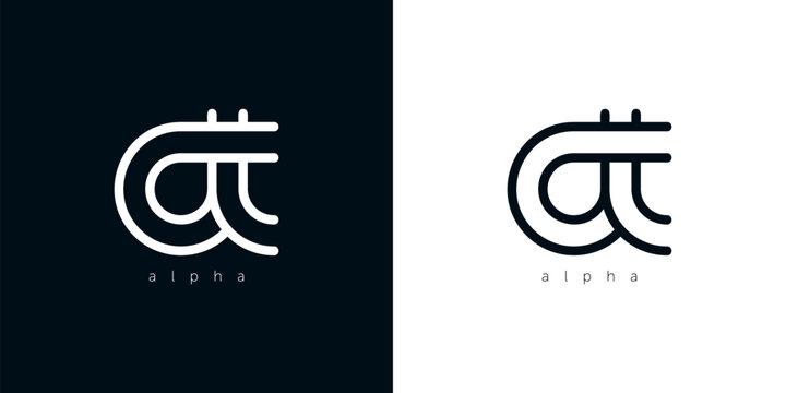 Alpha letter stylized vector, Letter of the alphabet, Vector illustration Eps 10