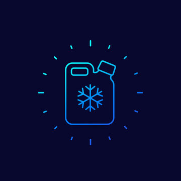 antifreeze for car line icon