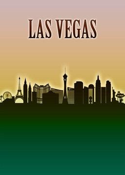 Las Vegas Skyline Minimal