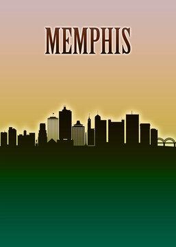 Memphis Skyline Minimal