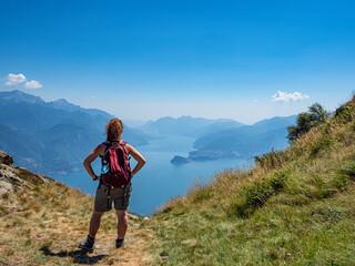 Trekking on Lake Como alps