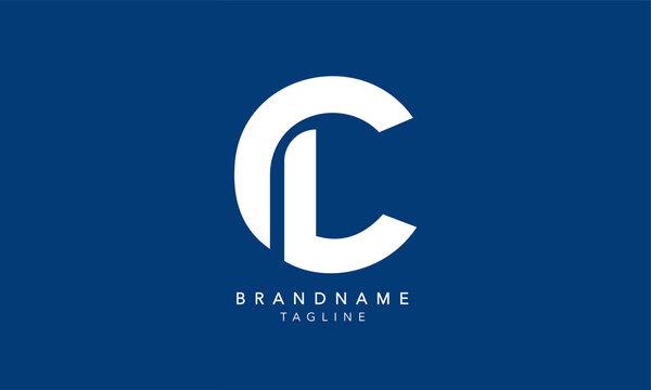 Alphabet letters Initials Monogram logo CL, LC, C and L