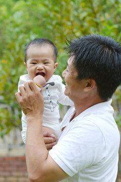 Asian lovely family