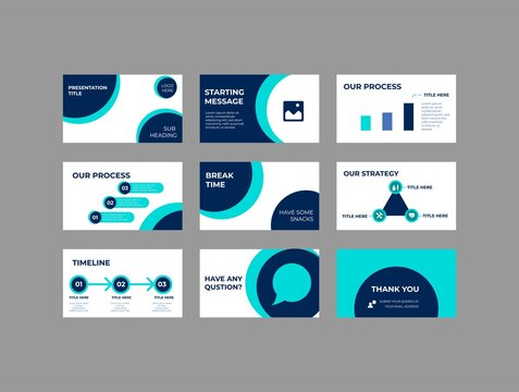 Company Investment Presentation, Pitch deck Vector Template
