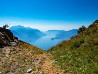 Landscape of Lake Como from Bregagno mount