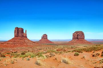 Monument Valley,Tsé Bii' Ndzisgaii, La vallée des rocs. Arizona, Utah, Etats-Unis, Amérique