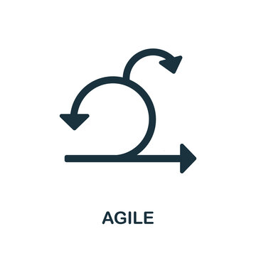 Agile icon. Simple element from business intelligence collection. Creative Agile icon for web design, templates, infographics and more