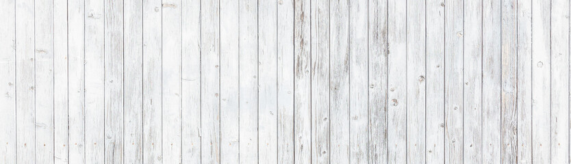 Rustic white wood wall background texture panorama