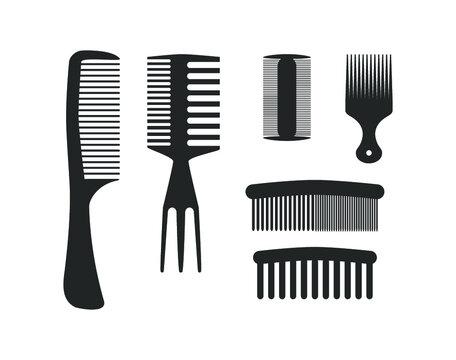 Hair comb set. Comb icon.  Comb vector design.