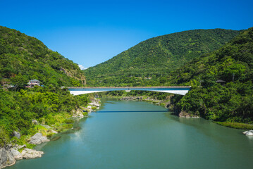 Changhong Bridge over the Xiuguluan River in Hualien, Taiwan