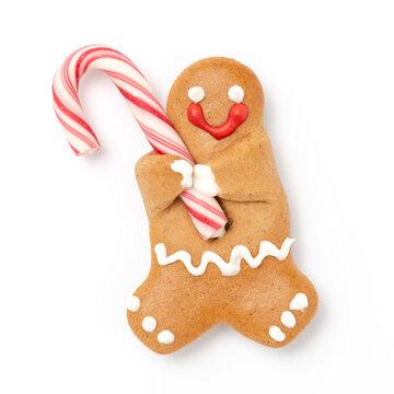 Lebkuchenmann mit Zuckerguss Dekoration für Weihnachten