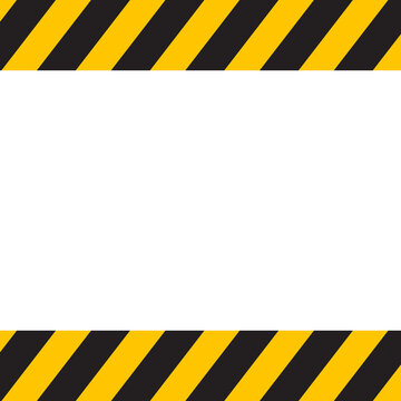 Black and yellow Caution tape. vector illustration