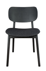 Classic black chair with black textile seat