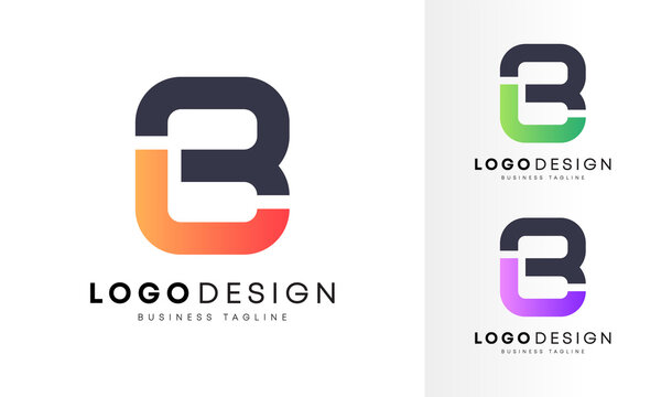 Minimalist flat initial JB, JE & BL letter logo design vector template for your company business