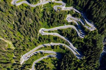 Bregaglia valley - Switzerland - aerial view of Maloja pass
