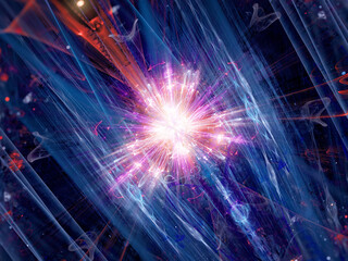 Colorful fission of particle in collider