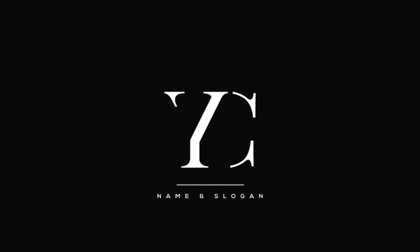 YC,CY ,Y ,C  Abstract Letters Logo Monogram