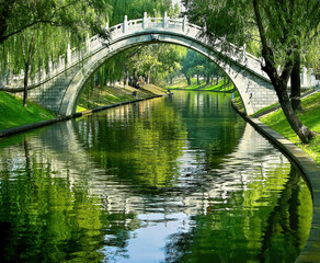 Moon Gate Purple Bamboo Park Beijing China