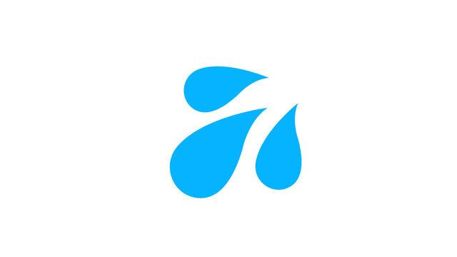 Sweat droplets  flat icon illustration on white background