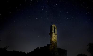 Bell tower under the stars Fototapete