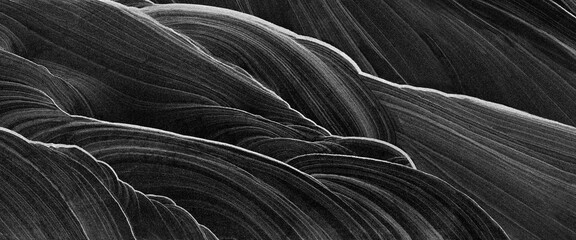 abstract marble black and white background - 370723831