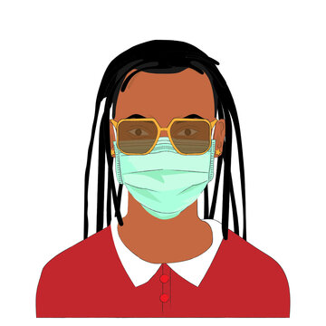 Wear a masks to prevent Coronavirus (COVID-19) and plague infection, Surgical masks illustration.