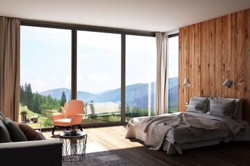 Hotelzimmer mit Panoramablick