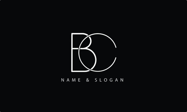 BC, CB, B, C abstract letters logo monogram