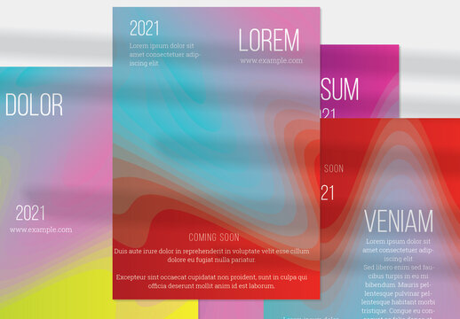 Vertical Abstract Futuristic Flyer Layout