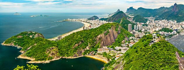 View of Copacabana and Botafogo neighborhoods in Rio de Janeiro, Brazil