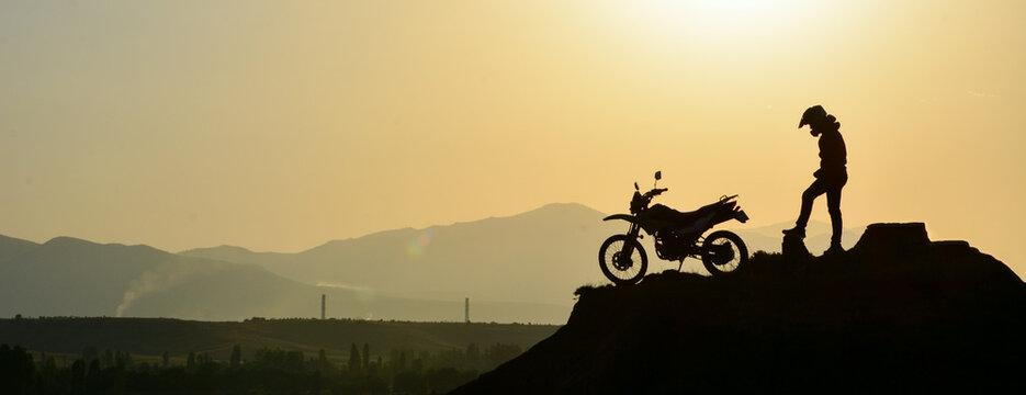 cross motorcycle silhouette